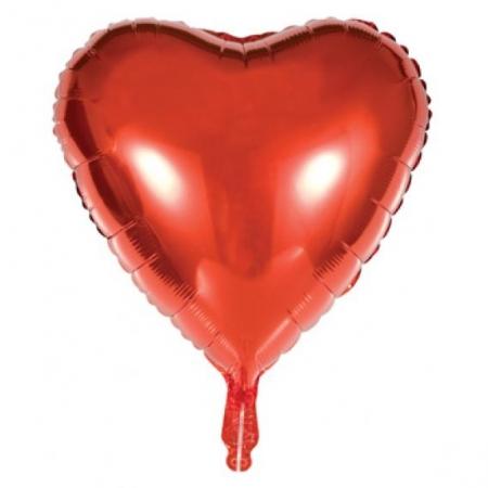 Kalp Folyo Balon Kırmızı Renk