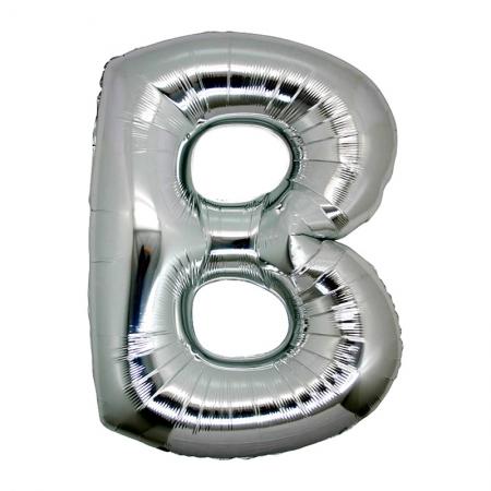 B Harf Folyo Balon Gümüş Renk