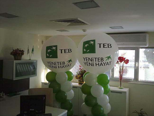 Antalya Teb Bankası balon süslemesi